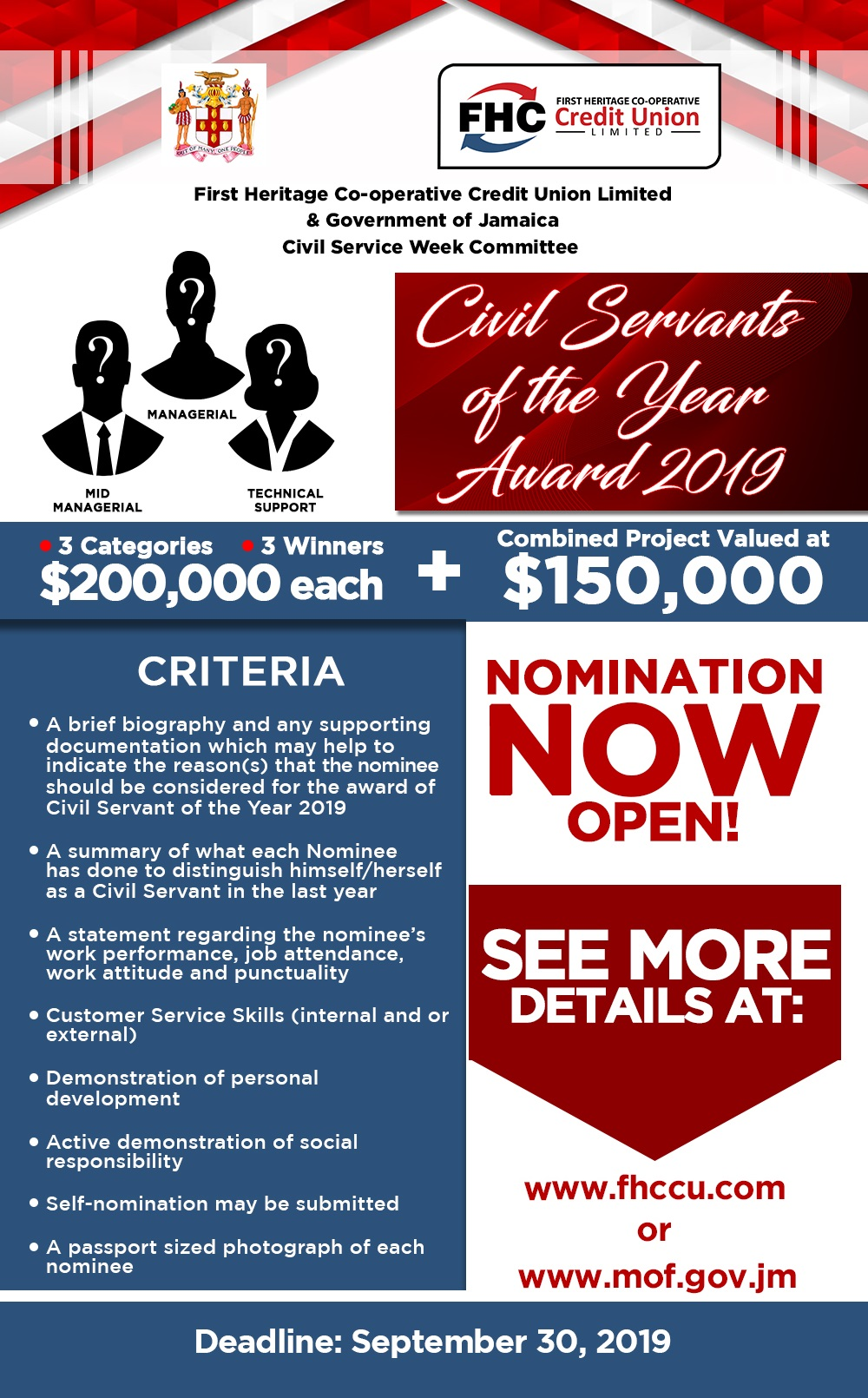 Civil servant of the year flyer