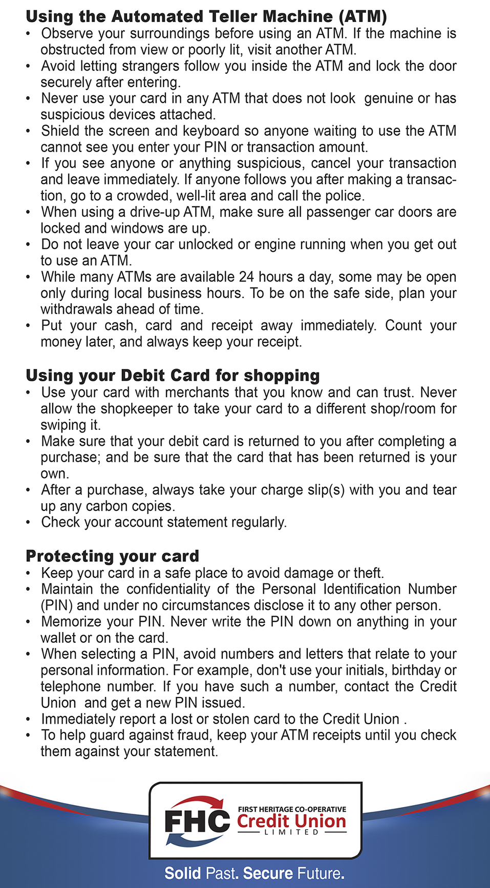 debit card web copy